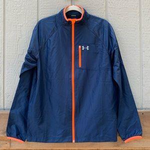 Under Armour blue unlined zip up windbreaker coat